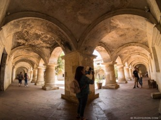 Fisheye view of Ruins of Las Capuchinas in Antigua Guatemala BY RUDY GIRON
