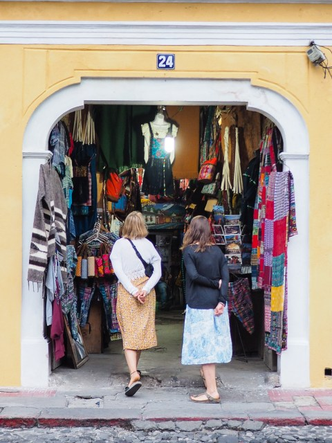 Zaguan shops of Antigua Guatemala by Rudy Giron