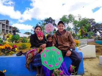 Day of the Dead vistas from Guatemala — Mayan Family with Kites BY RUDY GIRON