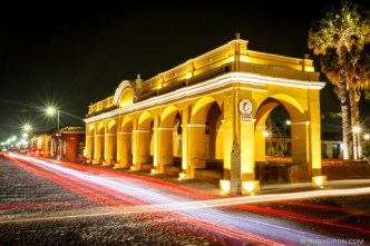 PHOTO STOCK: Tanque de la Unión at Night in Antigua Guatemala