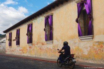 Lent Window Decorations in Antigua Guatemala BY RUDY GIRON