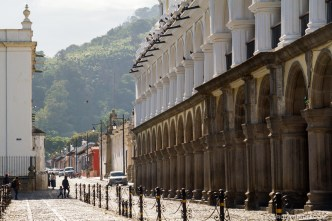 PHOTO STOCK: Sunny morning at Real Palacio de la Cultura in Antigua Guatemala