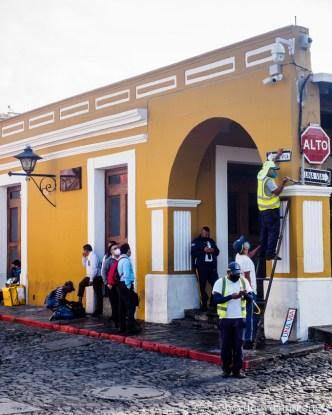 Maintaining Antigua Street Signs