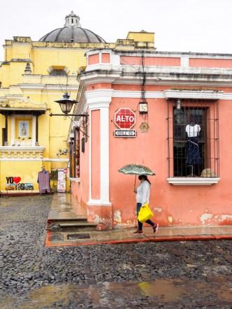 PHOTO STOCK: Rainy Vista of Yo Amo Antigua Guatemala
