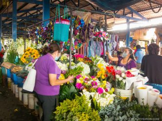 Crowded Flowers Stands the Day before All Saints Day