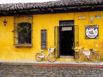 Façade of Café Estudio in Antigua Guatemala