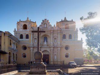 PHOTO STOCK: Sunny Façade of Iglesia de La Merced in Antigua Guatemala