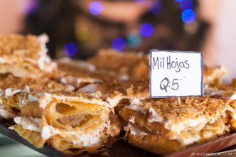 PHOTO STOCK: Guatemalan Milhojas cakes for sale