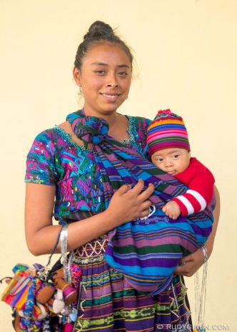 PHOTO STOCK: Mayan Portraits - Young Mayan Woman and her baby