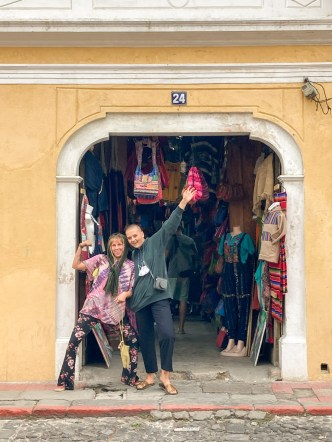 Antigua Makes Me Happy — Tourist Girls Enjoying Guatemala