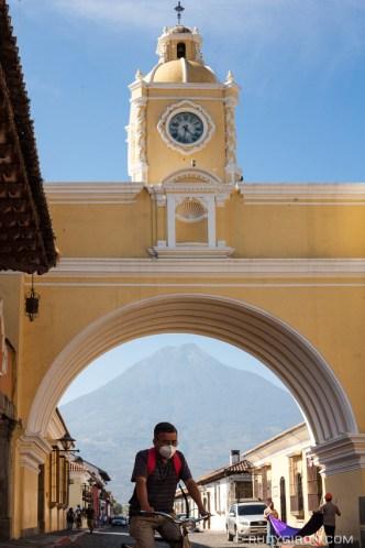 PHOTO STOCK: Arch of Santa Catalina in Antigua Guatemala by Rudy Giron