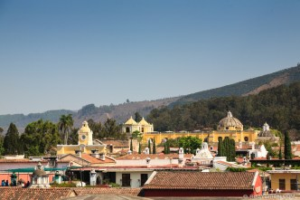PHOTO STOCK: Rooftop View of Arco de Santa Catalina and Iglesia La Merced