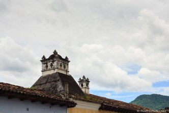 Sights of Antigua Guatemala: Cupolas and Clouds