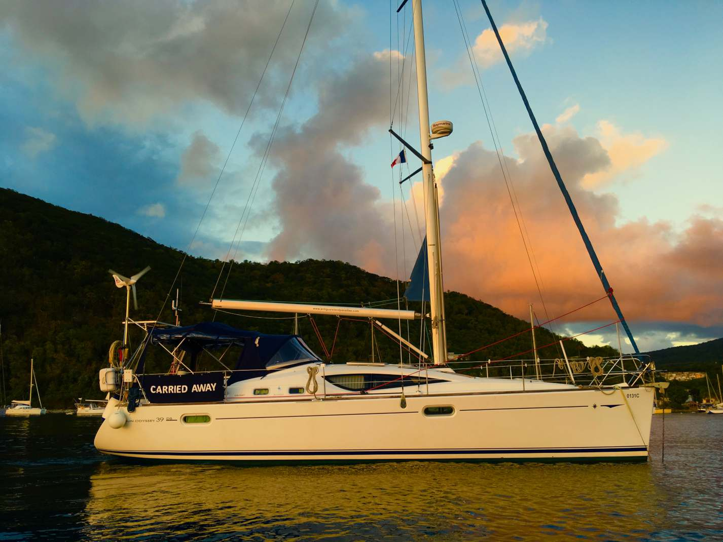 Sunset, our yacht, Carried Away