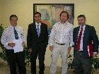 Adolfo Fernández y Pedro García Parra con D. Gerardo y D. Alberto Barrera