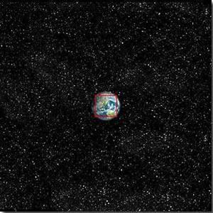 10^8 = 100,000 χλμ: Η γη αρχίζει να δείχνει μικρή
