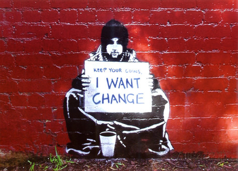 beggar-i-want-change-art-print-poster