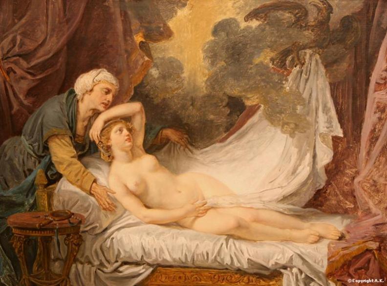"""η """"επίσκεψη"""" του Δία στην Αίγινα -  Jean-Baptiste Greuze - 1767"""