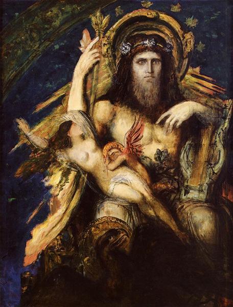 Δίας και Σεμέλη - Gustave Moreau - 1889-1895