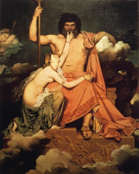 Δίας και Θέτις - Jean-Auguste-Dominique Ingres - 1811