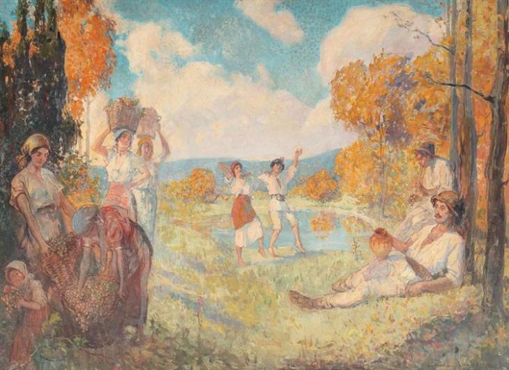 Αλληγορία του Φθινοπώρου (Η τέχνη και το κρασί) Nicolae Vermont 1924