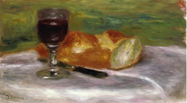 Ποτήρι κρασί - Pierre-Auguste Renoir 1908