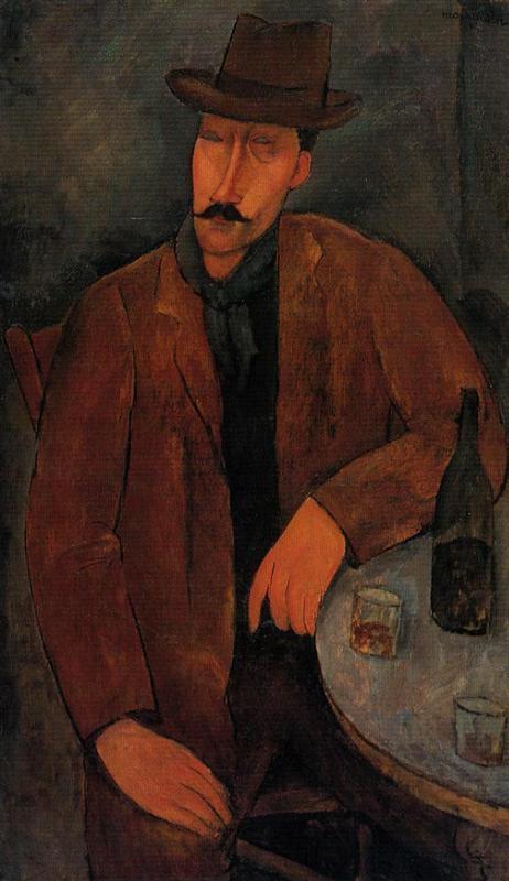 άνδρας μ ένα ποτήρι κρασί - Amedeo Modigliani 1918
