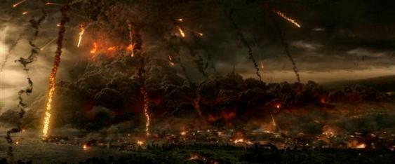 Mt. Vesuvius explodes in TriStar Pictures' POMPEII.