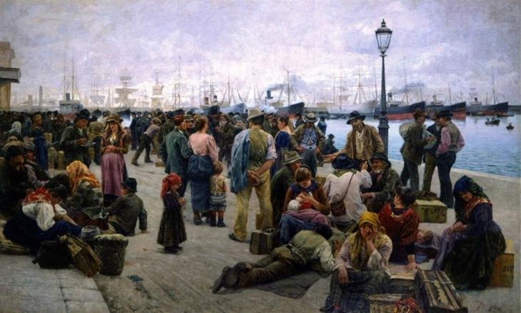 μετανάστες - Adolfo Tommasi - 1896
