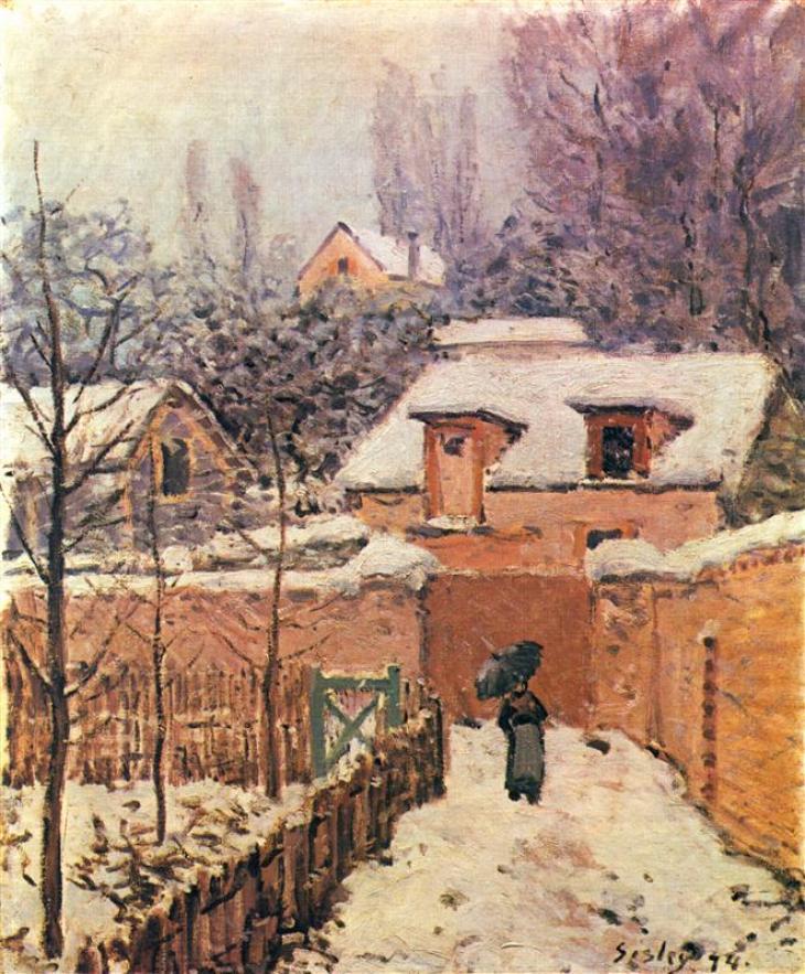 Κήπος στο Louveciennes στο χιόνι - Alfred Sisley 1874