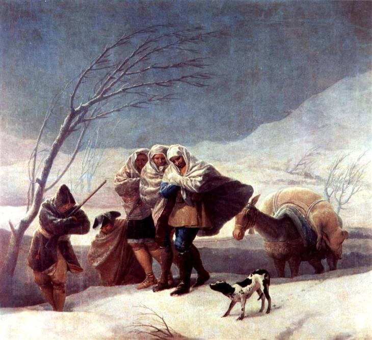 Η χιονοθύελλα (Χειμώνας) - Francisco Goya 1786