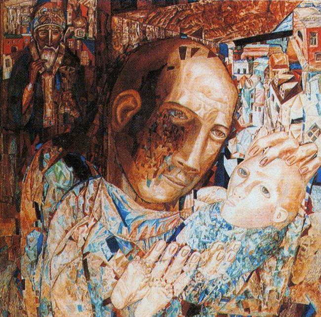 Πάβελ Νικολάγεβιτς Φιλόνοφ (Pavel Filonov)- Η Μητέρα (πίνακας του 1916)