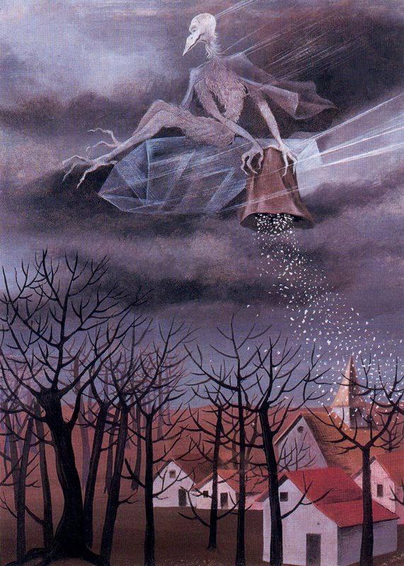 Το κρύο της σουρελίστριας Remedios Varo, ζωγραφισμένος το 1948