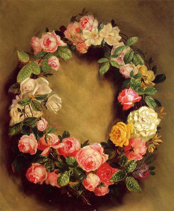στεφάνι με τριαντάφυλλα 1858