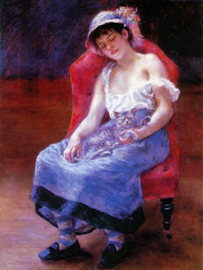 Κοιμωμένη (Κορίτσι με μια γάτα) 1880