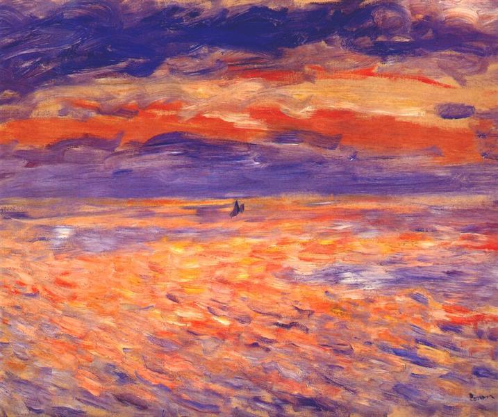 Ηλιοβασίλεμα στη θάλασσα 1879
