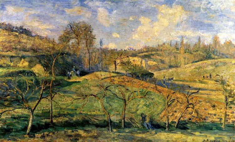 Ήλιος του Μάρτη -, Pontoise - Καμίλ Πισαρό 1875