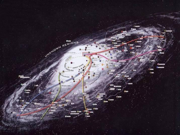 Star Wars Galaxy map