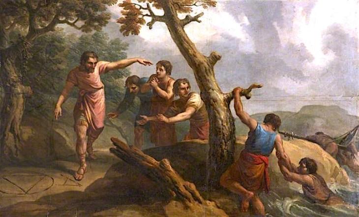 Αρίστιππος και οι σύντροφοί του - Antonio Zucchi - 1768