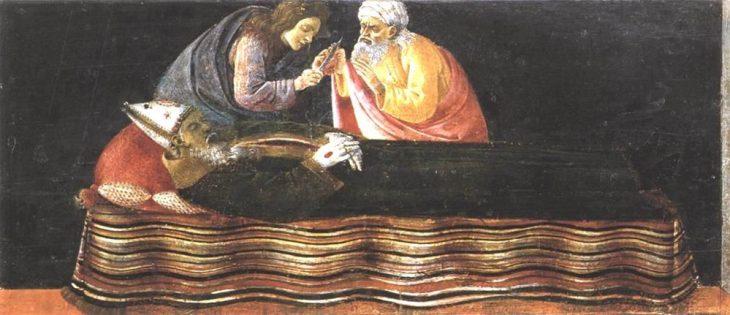 εξαγωγή της καρδιάς του Αγίου Ιγνατίου - Sandro Botticelli - 1488