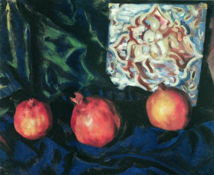 Νεκρή φύση με ρόδια Boris Μιχάιλοβιτς Kustodiev - 1910