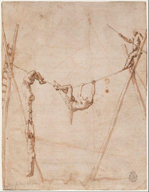 Ακροβάτες στο σχοινί. - Χοσέ Ριμπέρα - 1634