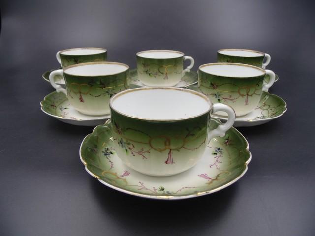 Чайные пары Кузнецов до 1917 года на 6 персон