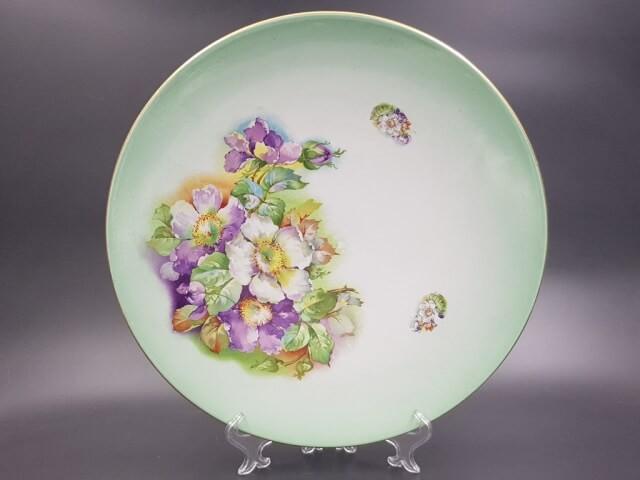 Декоративная подвесная тарелка с маркой Кузнецова до 1917 г