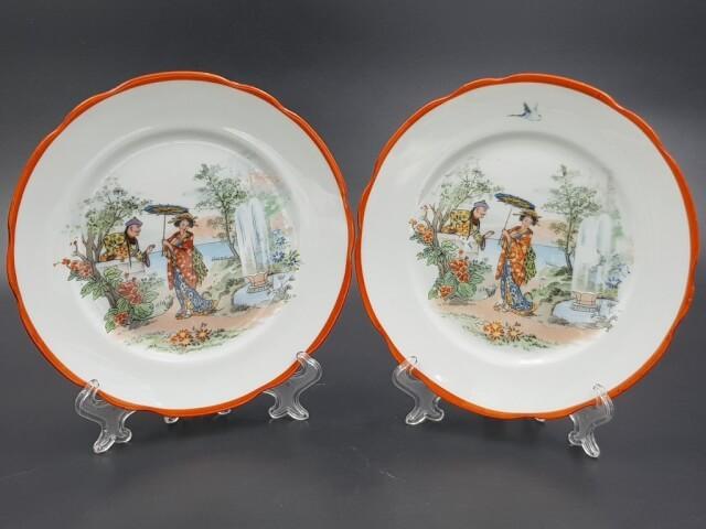 Тарелки с маркой Кузнецова шинуазри до 1917 года