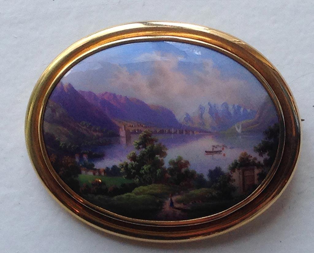 Brosche Miniaturmalerei