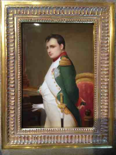 Porzellanplakette Napoleon Bonaparte