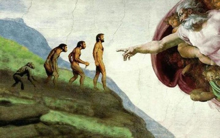 evolution touches god