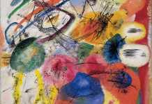 Black Lines I, lukisan abstrak Kandinsky
