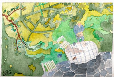 autoportrait aux ombres dans le jardin du Havre